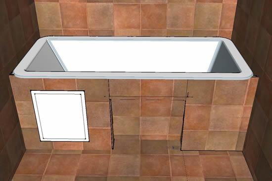 Как сделать люк в экране под ванной